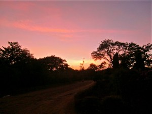 african evening sky image