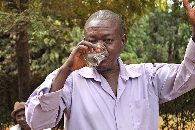 Man drinking water image