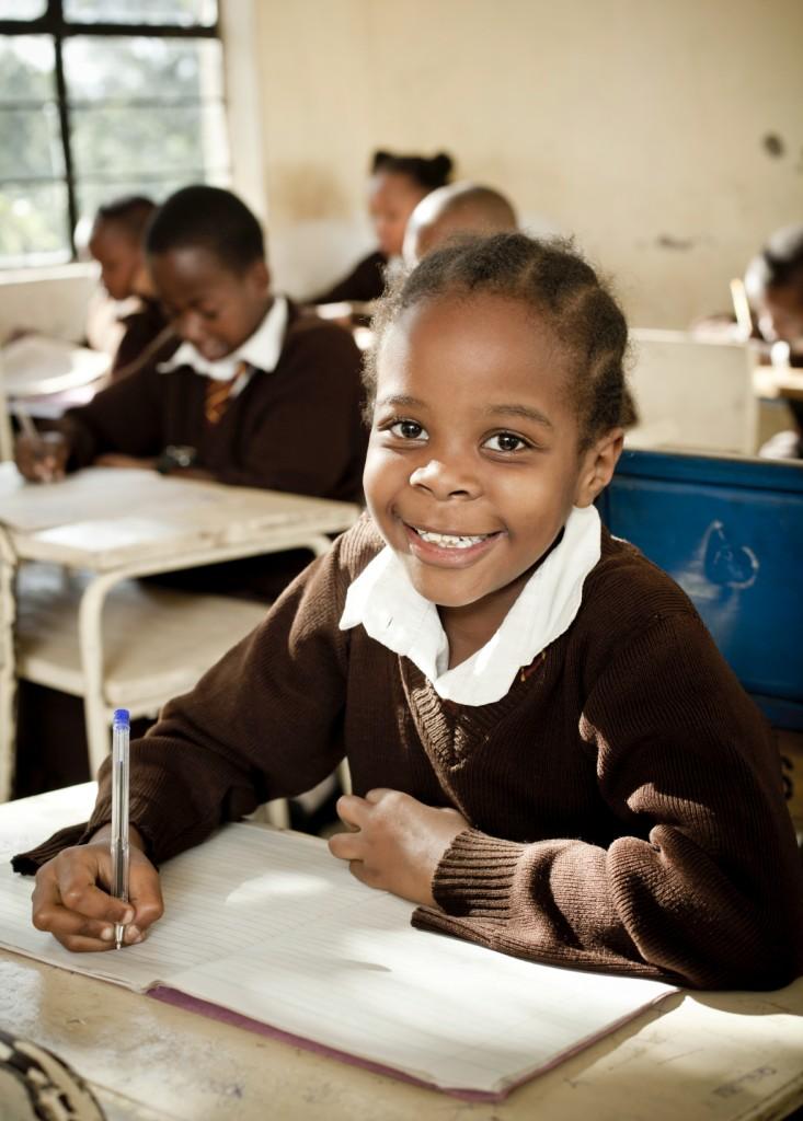 African Schoolgirl in Class